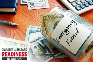 Financial preparedness is disaster preparedness image