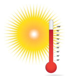 sun and thermometer image