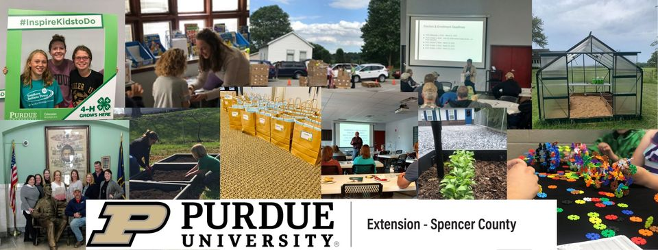 Purdue Extension programming photo collage